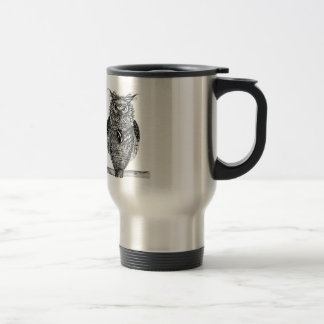 The wise owl stainless steel travel mug
