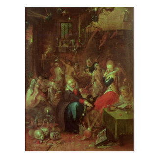 The Witches' Sabbath, 1606 Postcard