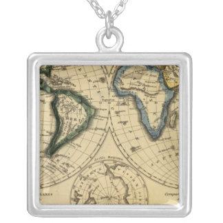 The World 3 Square Pendant Necklace