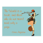 The World is a book Postcard