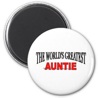 The World's Greatest Auntie 6 Cm Round Magnet