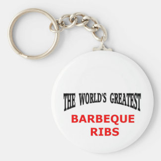 The world's greatest barbeque ribs basic round button key ring
