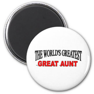 The World's Greatest Great Aunt 6 Cm Round Magnet