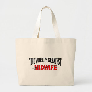 The World's Greatest Midwife Jumbo Tote Bag