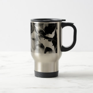 THE YIN & THE YANG (black & white abstract art) ~. Stainless Steel Travel Mug
