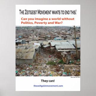 The Zeitgeist Movement Slum Promo Poster