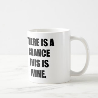 THERE IS A CHANCE THIS IS WINE. BASIC WHITE MUG