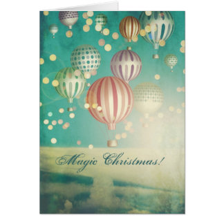 There is Magic  Christmas Greeting Greeting Card