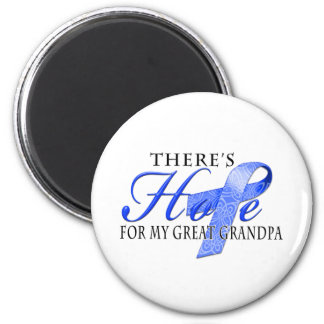 There's Hope for Colon Cancer Great Grandpa 6 Cm Round Magnet