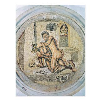Theseus wrestling with the Minotaur Postcard