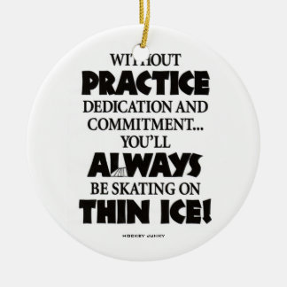 THIN ICE ROUND CERAMIC DECORATION