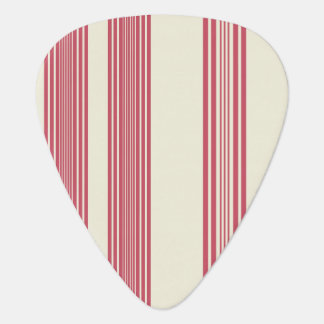 Thin Pink Vertical Stripes Off White Background Guitar Pick