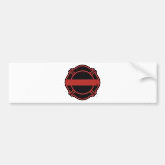 Thin Red Line Maltesse Cross Bumper Sticker