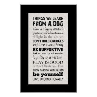 Things We Learn From A Dog Poster