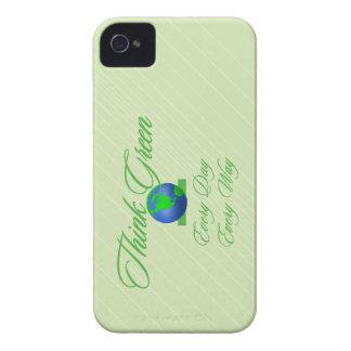 Think Green 2 Custom iPhone 4/4S Case