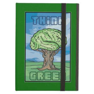 Think Green, Brain iPad Air Cover