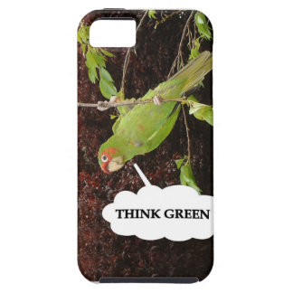 Think Green conure iPhone 5 Cases