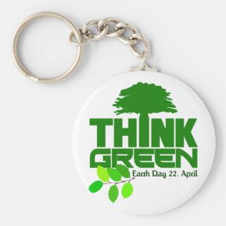 Think Green keychain