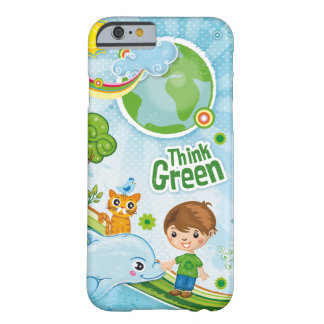 Think Green Quote Kids Barely There iPhone 6 Case
