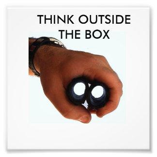 Think outside the box photo print