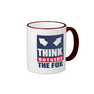 Think outside the fox ringer mug