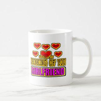 Thinking Of You Girlfriend Basic White Mug
