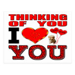 Thinking Of You I Love You Postcard