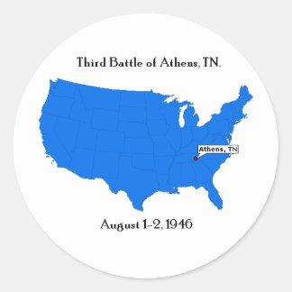 Third Battle of Athens, TN. Round Sticker