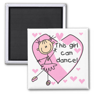 This Girl Can Dance T-shirts and Gifts Square Magnet