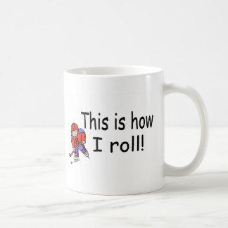 This Is How I Roll (Hockey) Basic White Mug