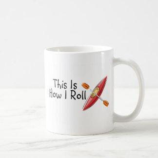 This Is How I Roll (Kayak) Basic White Mug