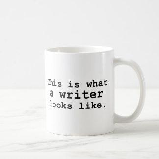 This is what a writer looks like. basic white mug
