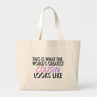 This Is What The World's Greatest Cousin (pink) (2 Jumbo Tote Bag