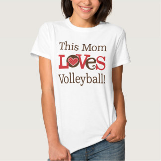 This Mom Loves Volleyball Tee Shirt