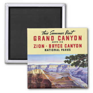 This Summer Visit Grand Canyon Square Magnet