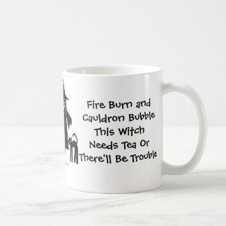This Witch Needs Tea! Tea-addicts Cup/Mug Basic White Mug