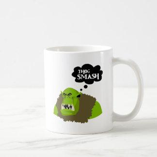 Thog Smash Basic White Mug
