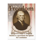 Thomas Jefferson – Freedom Stretched Canvas Prints