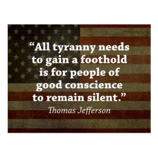 Thomas Jefferson Quote Postcard