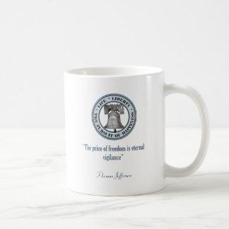 Thomas Jefferson Quote (Vigilance) Basic White Mug