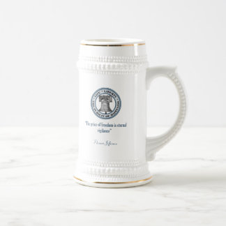 Thomas Jefferson Quote (Vigilance) Beer Steins