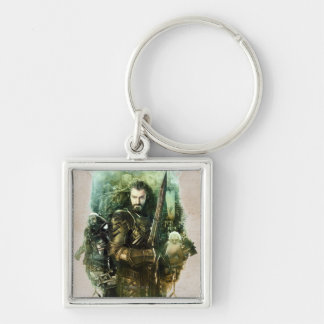THORIN OAKENSHIELD™, Dwalin, & Balin Graphic Silver-Colored Square Key Ring