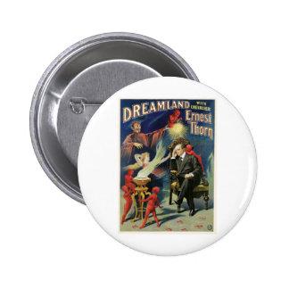 Thorn Magician ~ Dreamland Vintage Magic Act 6 Cm Round Badge