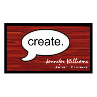 Thought Cloud Create Artist Business Card