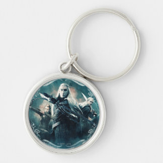 Thranduil, TAURIEL™, & LEGOLAS GREENLEAF™ Graphic Silver-Colored Round Key Ring