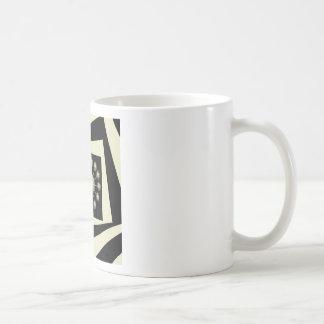 Three Dimensional Space Flower Basic White Mug