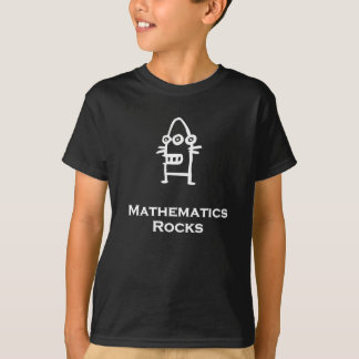 Three Eye Bot Mathematics Rocks white T Shirts