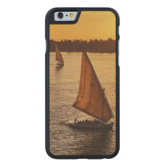 Three falukas with sightseers on Nile River at Carved® Maple iPhone 6 Slim Case