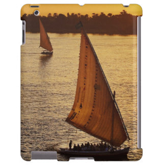 Three falukas with sightseers on Nile River at iPad Case
