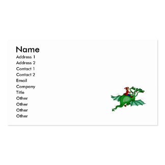 Three-Headed Dragon with Rider Pack Of Standard Business Cards
